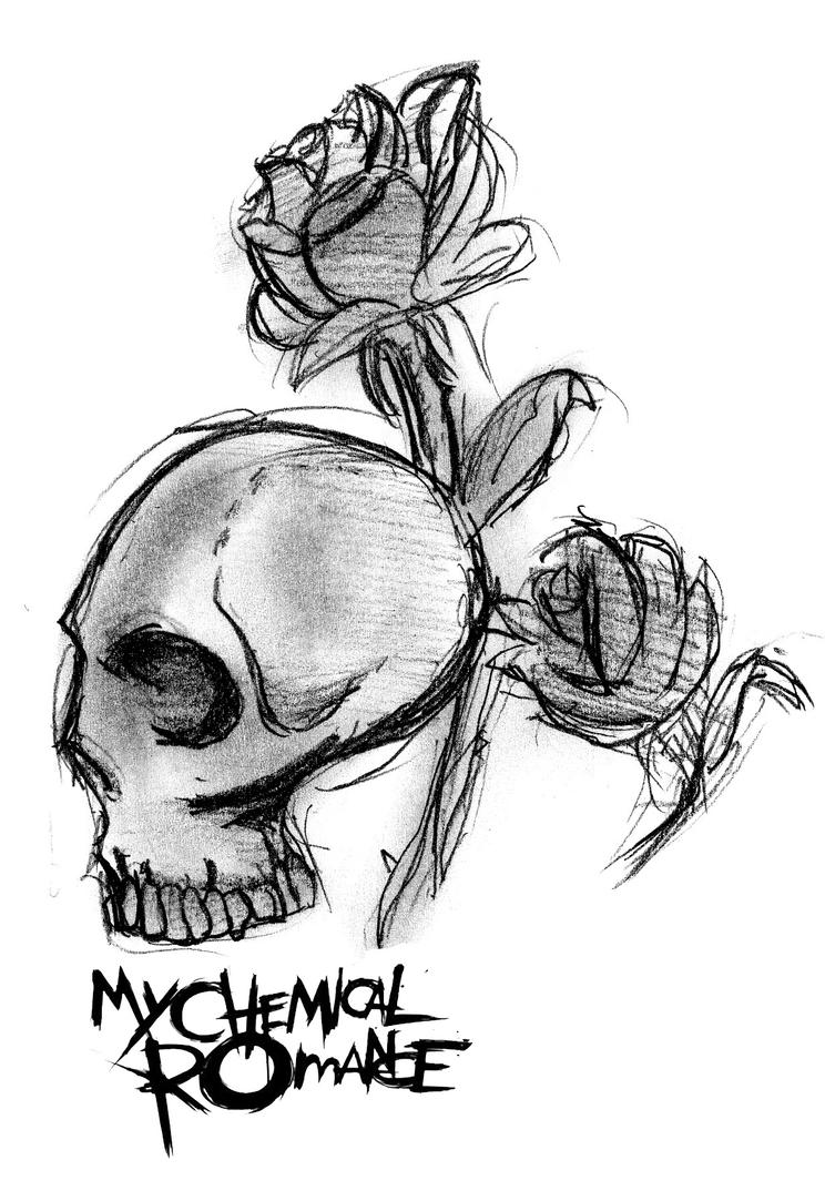My chemical romance skull logo by mysicknessromance on for Draw my logo