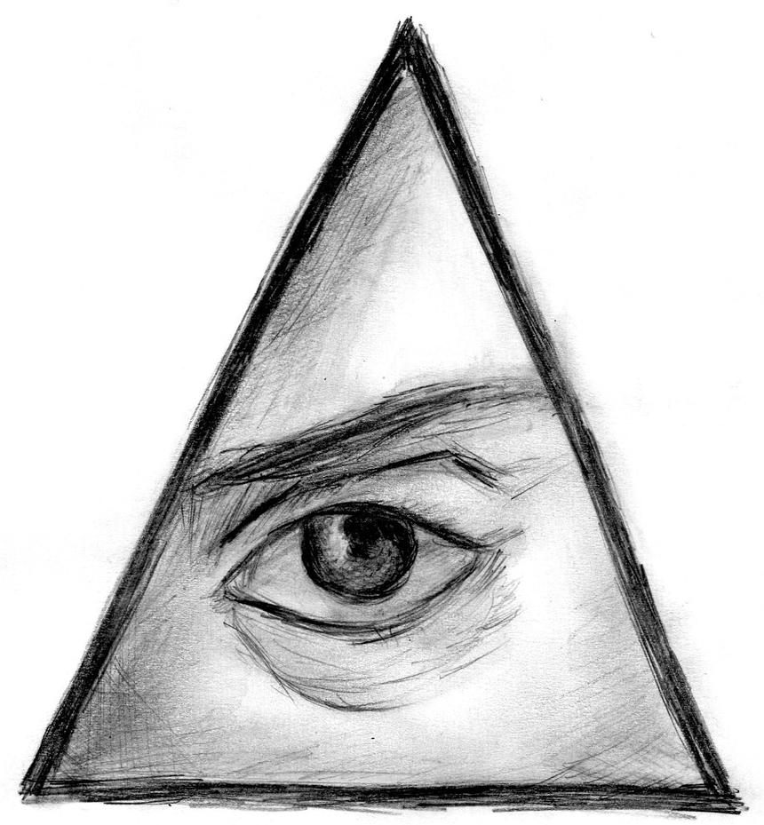 Illuminati Triangle Eye Drawing Frank Iero triangle ey...