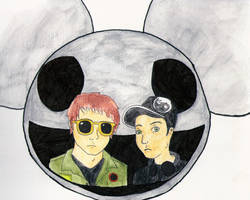 Professional Griefers DeadMau5 vs. Gerard Way by MySicknessRomance