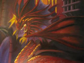 Dragon Painting by sayla-renheart