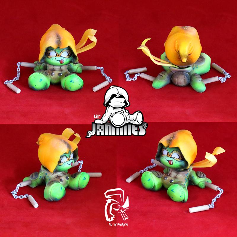 TMNT Michelangelo - Lil' Jammie of the Week! by FullerDesigns