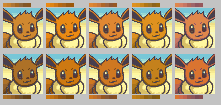 Eevee Color Palettes by LilacCat336