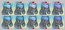 Riolu Color Palettes by LilacCat336