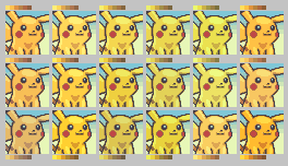 Pikachu Color Palettes by LilacCat336