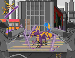 Dragon swordmaster (Purple)