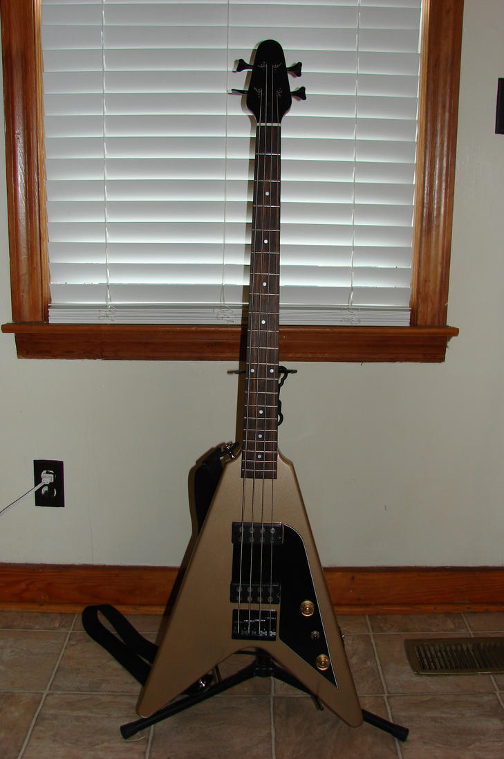 flying v bass guitar by titan386 on deviantart. Black Bedroom Furniture Sets. Home Design Ideas