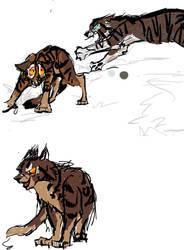 Warriors Sketch Tigerclaw,bramblestar,hawkfrost by sunny5262