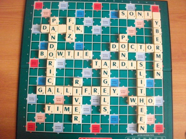 Doctor Who Scrabble by bananachip33