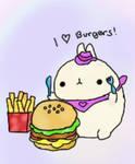 I love burgers!!!