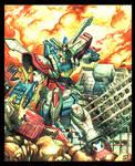 G Gundam Watercolor by commanderaaron