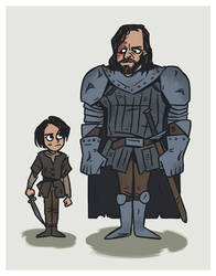 Arya and the Hound by ekzotik