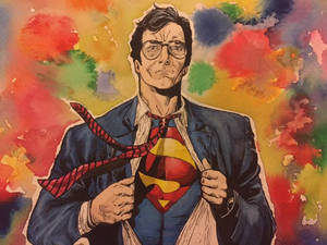 Superman in watercolour