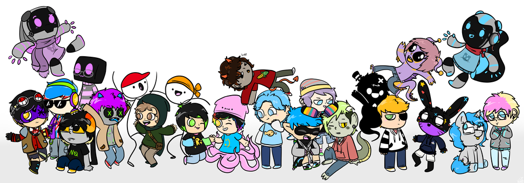 lots of ocs oh wrow by JovialTrees