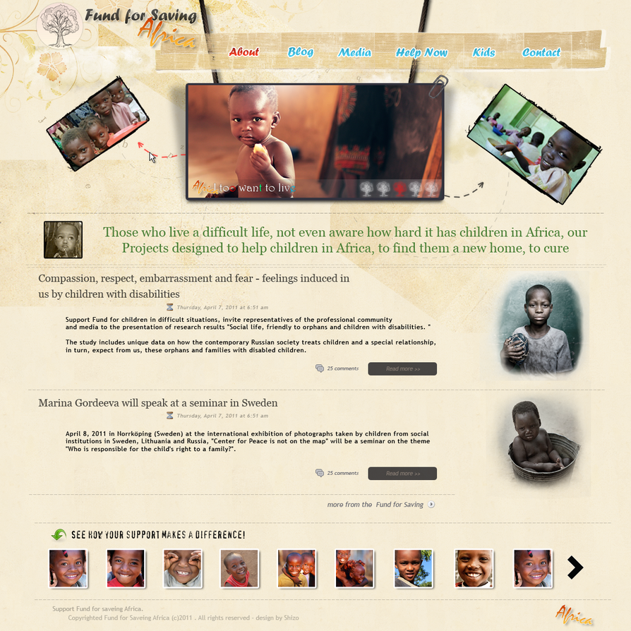 web design   africa by shizoy d3dfeym Web Design Interface Collection of Inspiration