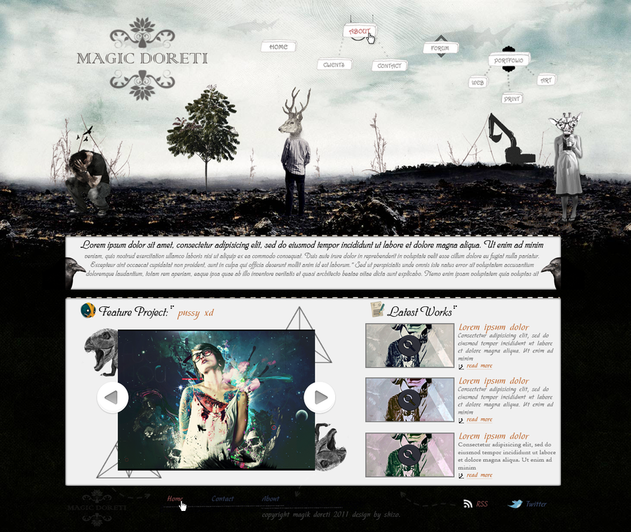 Web Design - Magic doreti by Shizoy