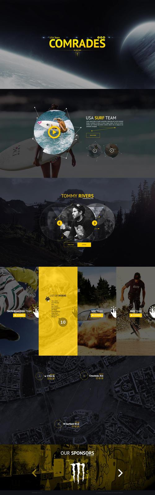Landing Page - USA. Team Comrades by Shizoy