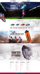 web design - Adidas concept site design by Shizoy