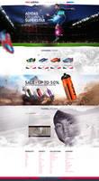 web design - Adidas concept site design