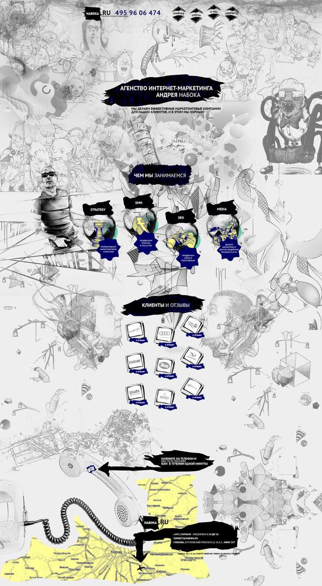 web design - agency naboka by Shizoy