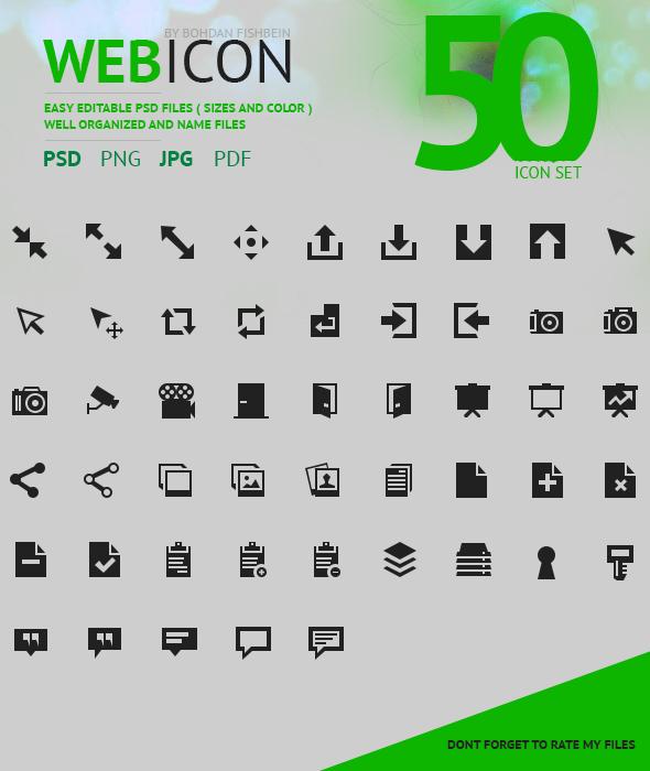 Web Icon set 50 ( for sale ) by Shizoy