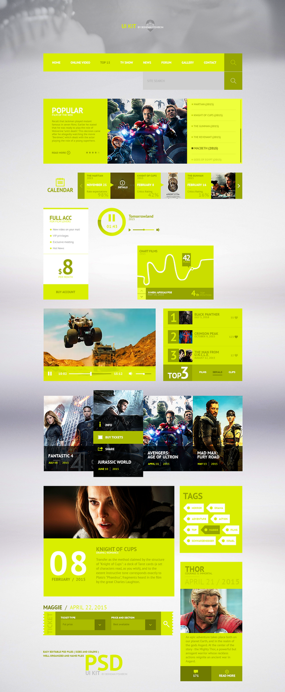 UI design - B.F by Shizoy