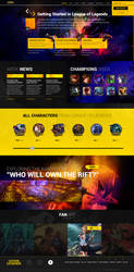 League Of Legends ( Prototype ) - Web Design by Shizoy