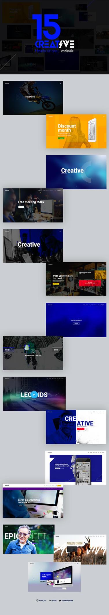 15 Creative Head on your Website by Shizoy