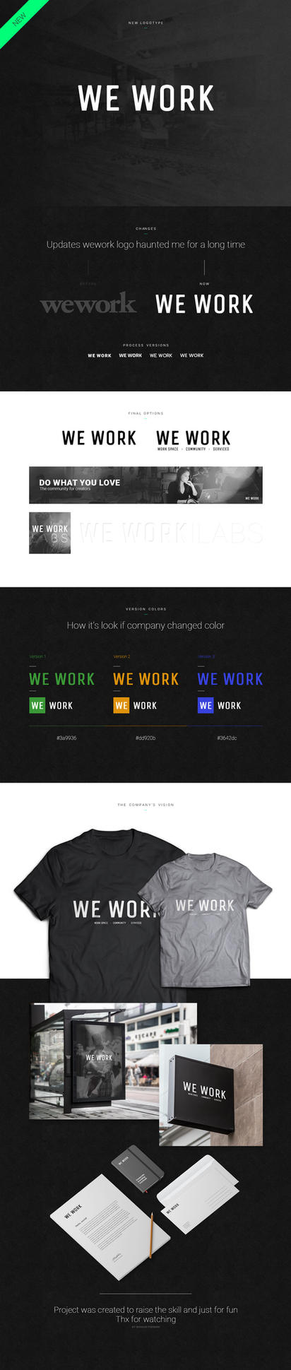wework company - redesign by Shizoy