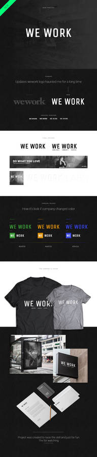 wework company - redesign