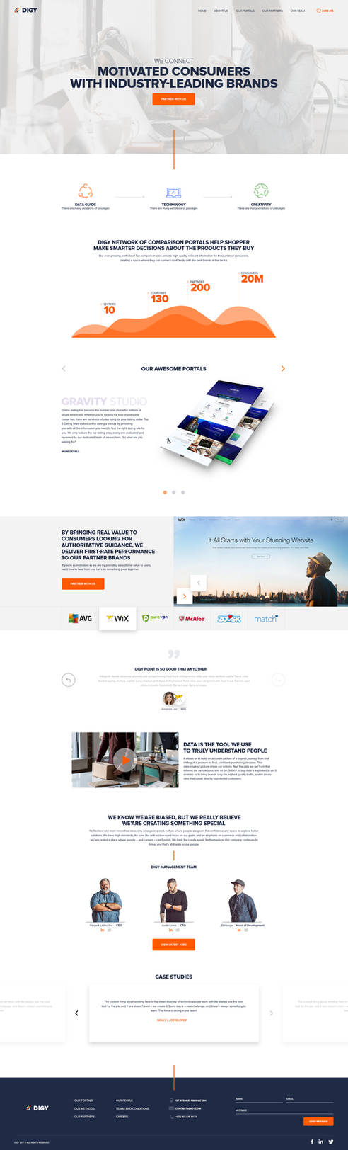 Digy - Landing Page