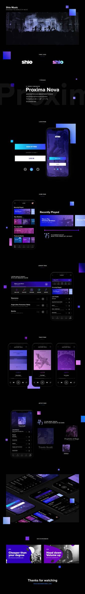 Shio Music - Mobile Application