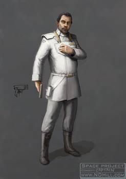 Character Design: Spaceship captain