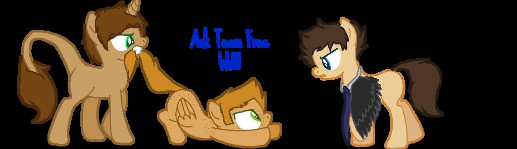 ask team free will ponies by spoopermooscifer on deviantart