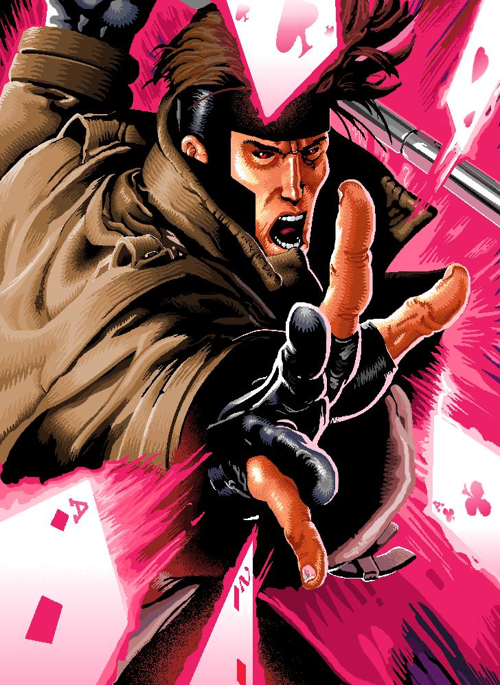 Gambit in MS Paint by lucasgomesdesouza