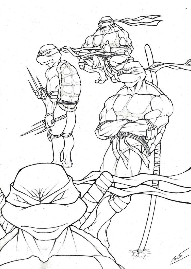 Line Art Turtle : Tmnt line art by lucasgomesdesouza on deviantart