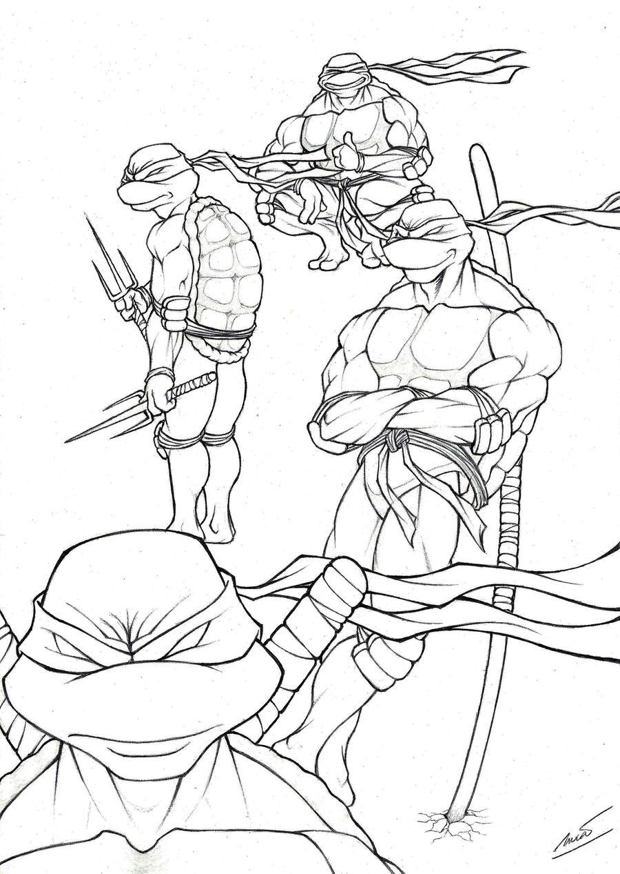 Line Art Ninja : Tmnt line art by lucasgomesdesouza on deviantart