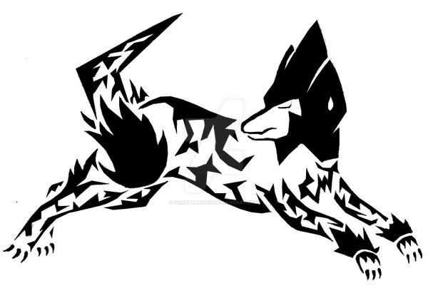 Tribal Manectric Tattoo by DansuDragon