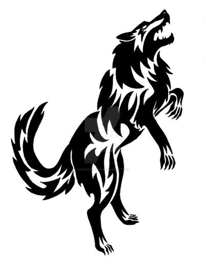 Standing Fenrir Wolf Tattoo By Dansudragon On Deviantart