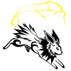 Tribal Jolteon Tattoo