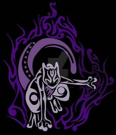Tribal Mewtwo Tattoo by DansuDragon