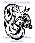 AT: Tribal Yin and Yang Wolf and Rabbit