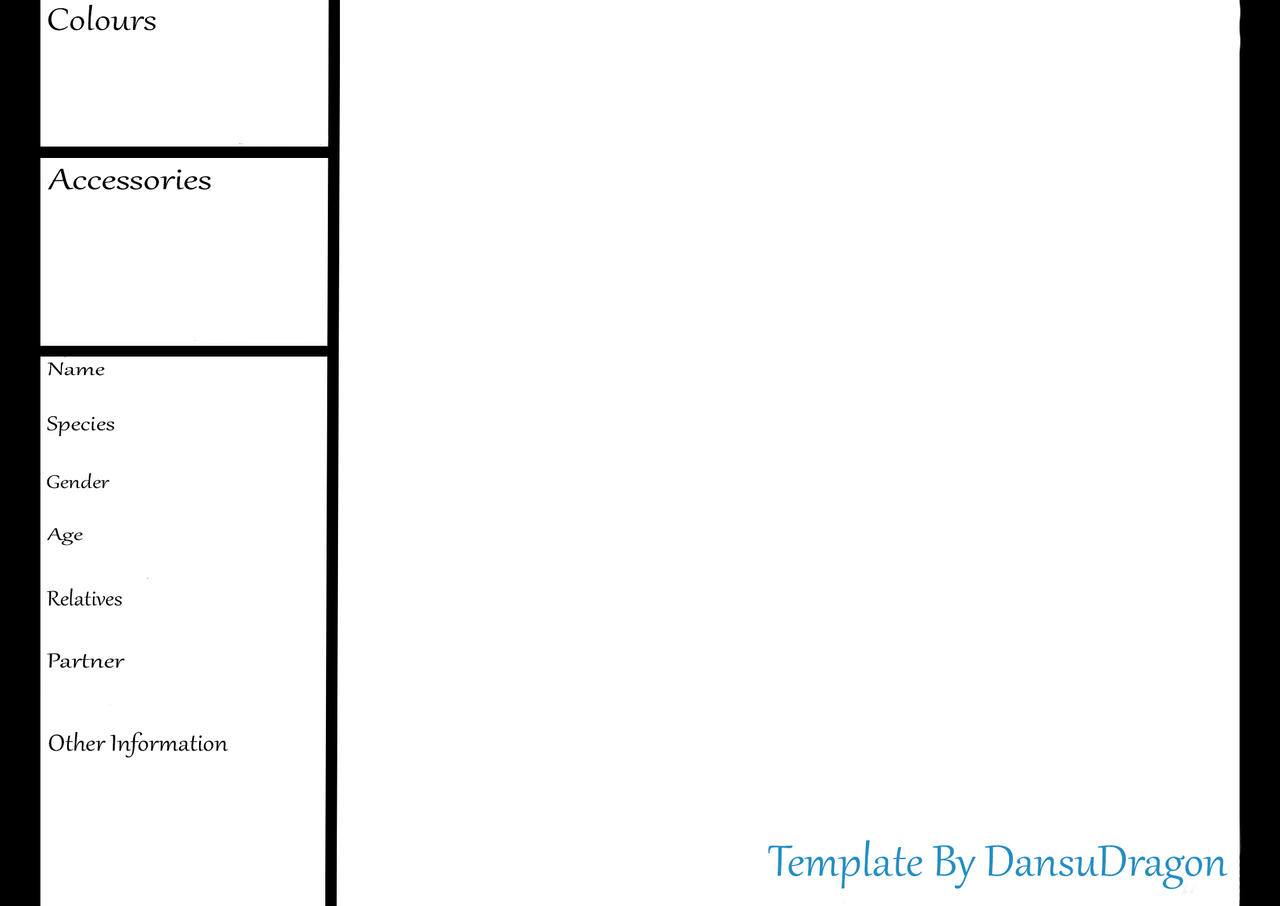 free reference sheet template