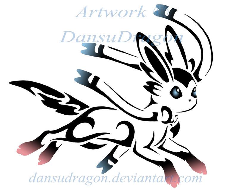 Tribal Sylveon Tattoo Commission by DansuDragon on DeviantArt  Tribal Sylveon ...