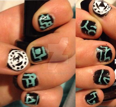 Twilight Princess Nail Art By 0ccams Razor On Deviantart