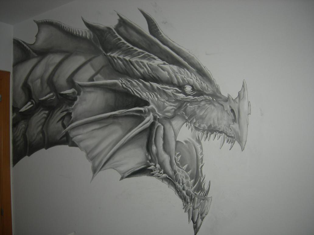 Dragon mural real size by gapgapgapo on deviantart for Dragon mural wallpaper