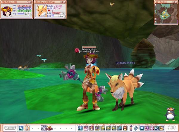 .:Flyff-Kyirinia and her FOX:. by moonlight-fox