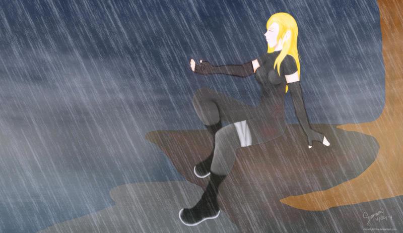 A Little Drop Of Rain Won't Hurt Me Now by moonlight-fox