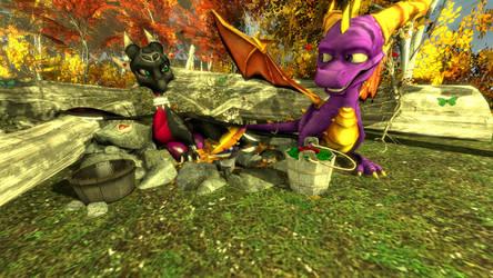 SFM The Legend of Spyro: DoTD 'Romantic Devotion' by left4deadify