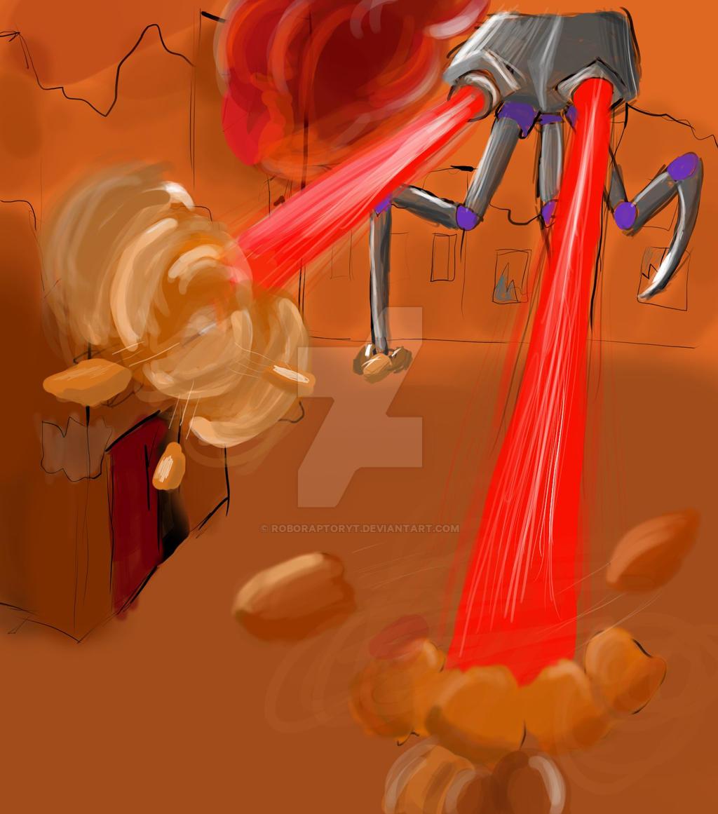 Alien robot. by RoboRaptorYT