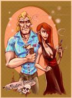 VB Tiki Party - Brock and Molv by SpookyChan